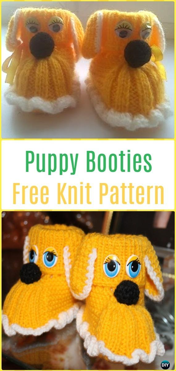 Knit Puppy Dog Booties Free Pattern Video - Knit Slippers Booties Free Patterns