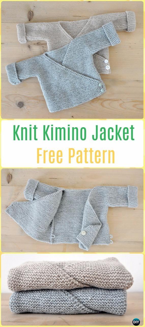 Knit Baby Knit Kimono Jacket Free Pattern Knit Baby Sweater