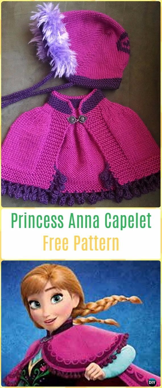 Knit Princess Anna Capelet Free Pattern - Knit Baby Sweater Outwear Free Patterns