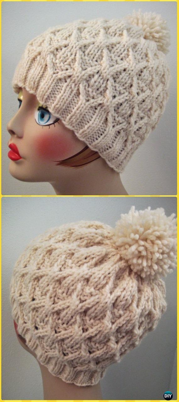Knit Wickerwork Hat Free Pattern - Knit Beanie Hat Free Patterns