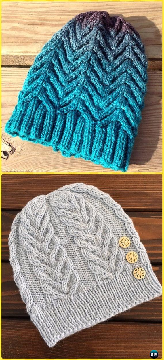 Knitted Minion Pattern : Knit Cable Beanie Hat Free Patterns
