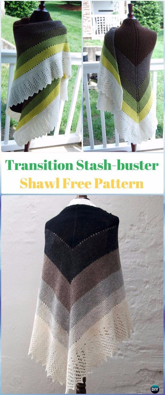 KnitTransition Stash-buster Shawl Free Pattern - Knit Scarf & Wrap Shawl Patterns