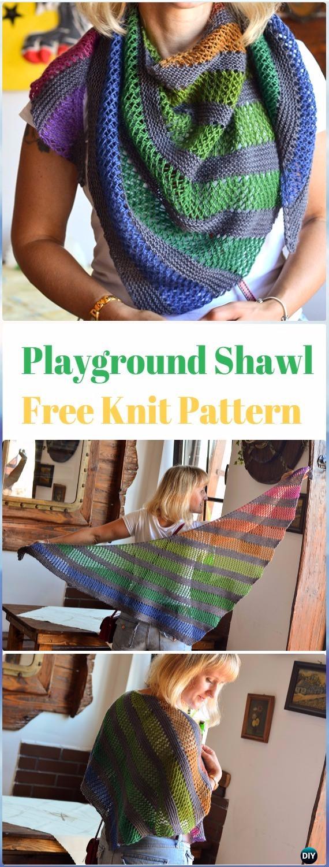 Knit Playground Shawl Free Pattern - Knit Scarf & Wrap Shawl Patterns