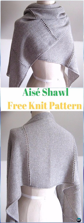 Knit Aisé Shawl Wrap Free Pattern - Knit Scarf & Wrap Shawl Patterns