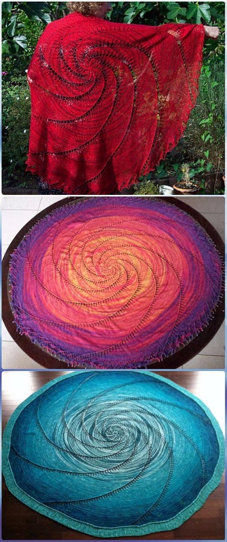 Knit Vortex Shawl Free Pattern - Knit Scarf & Wrap Shawl Patterns