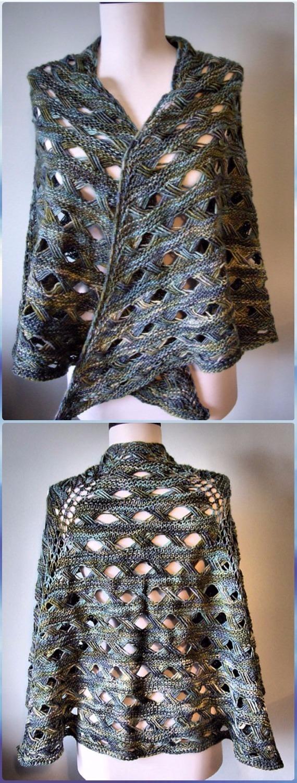 Knit Maja Shawl Free Pattern - Knit Scarf & Wrap Shawl Patterns