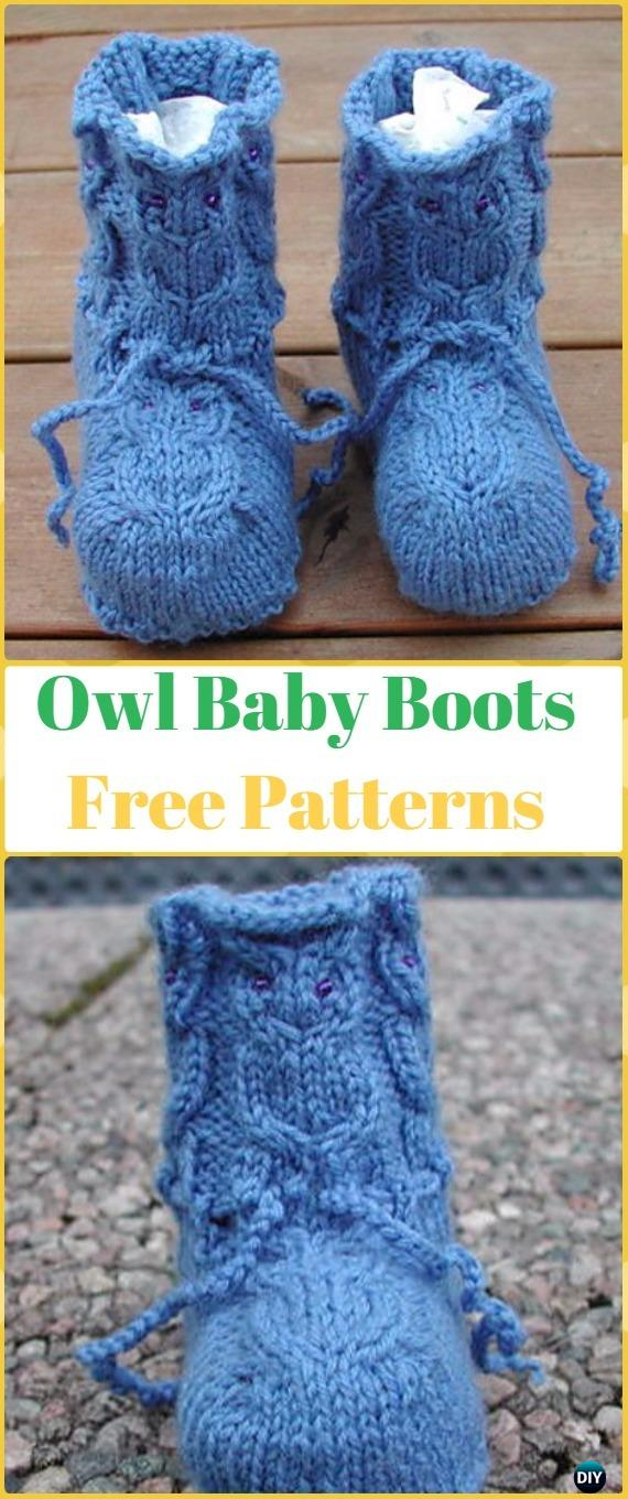 Knit Baby Owl Booties Free Pattern - Knit Slippers Booties Free Patterns