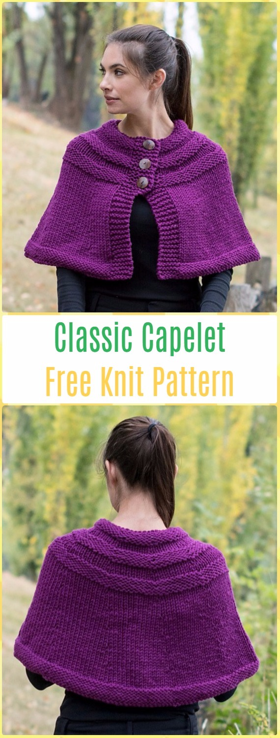 Knit Women Capes & Poncho Free Patterns Instructions
