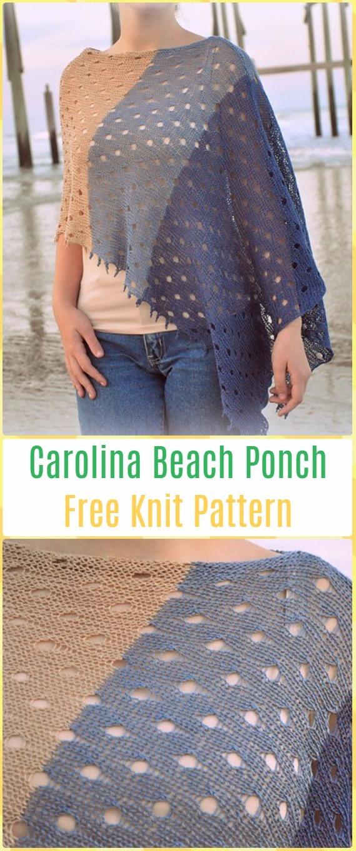 Knit Carolina Beach FreePattern - Knit Women Capes & Poncho Free Patterns