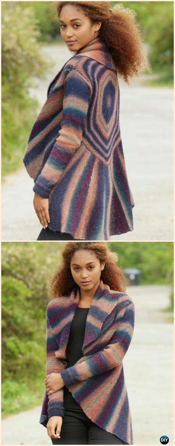 Women's Spectre Jacket Cardigan Sweater Free Knitting Pattern - Knit Women Cardigan Sweater Coat Free Patterns