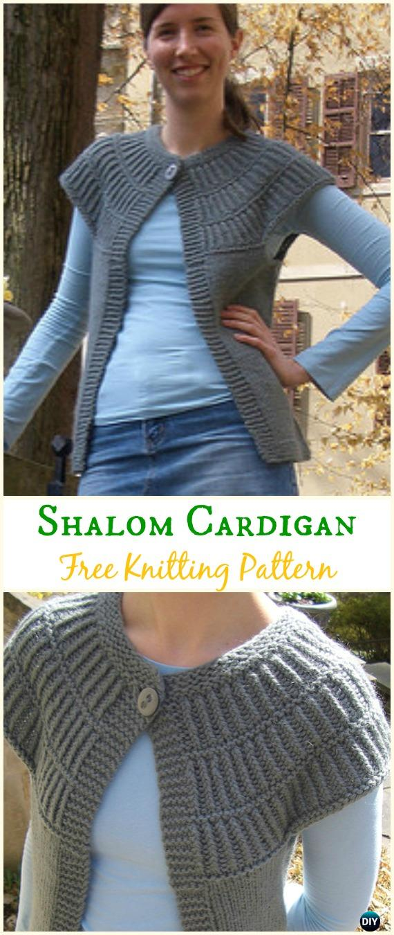 Women's Shalom Cardigan Sweater Free Knitting Pattern - Knit Women Cardigan Sweater Coat Free Patterns