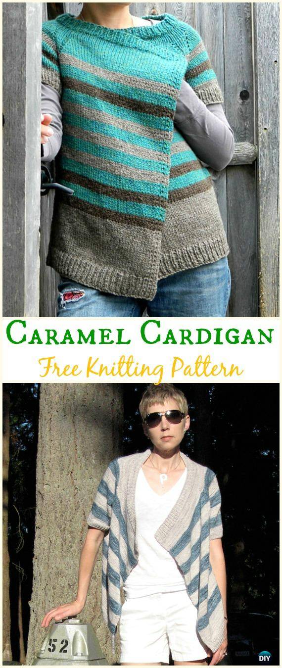 efbd9d410 Women s Caramel Cardigan Sweater Free Knitting Pattern – Knit Women  Cardigan Sweater Coat Free Patterns