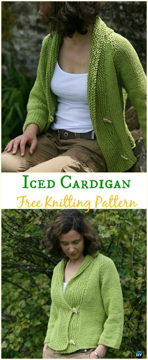 Women's Iced Cardigan Sweater Free Knitting Pattern - Knit Women Cardigan Sweater Coat Free Patterns