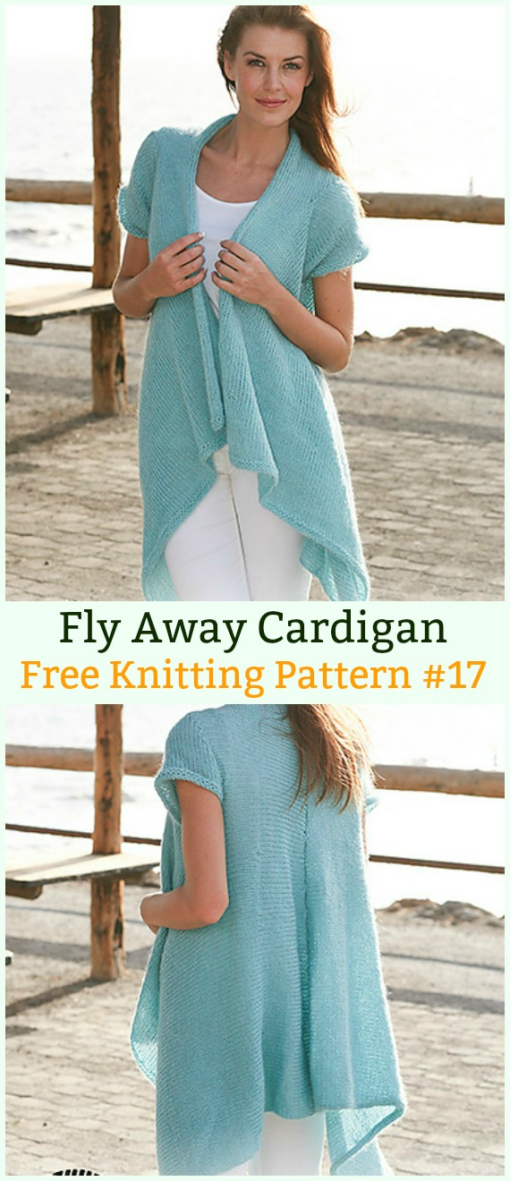 Fly Away Cardigan Sweater Free Knitting Pattern - Women #Cardigan; Sweater Coat Free #Knitting; Patterns