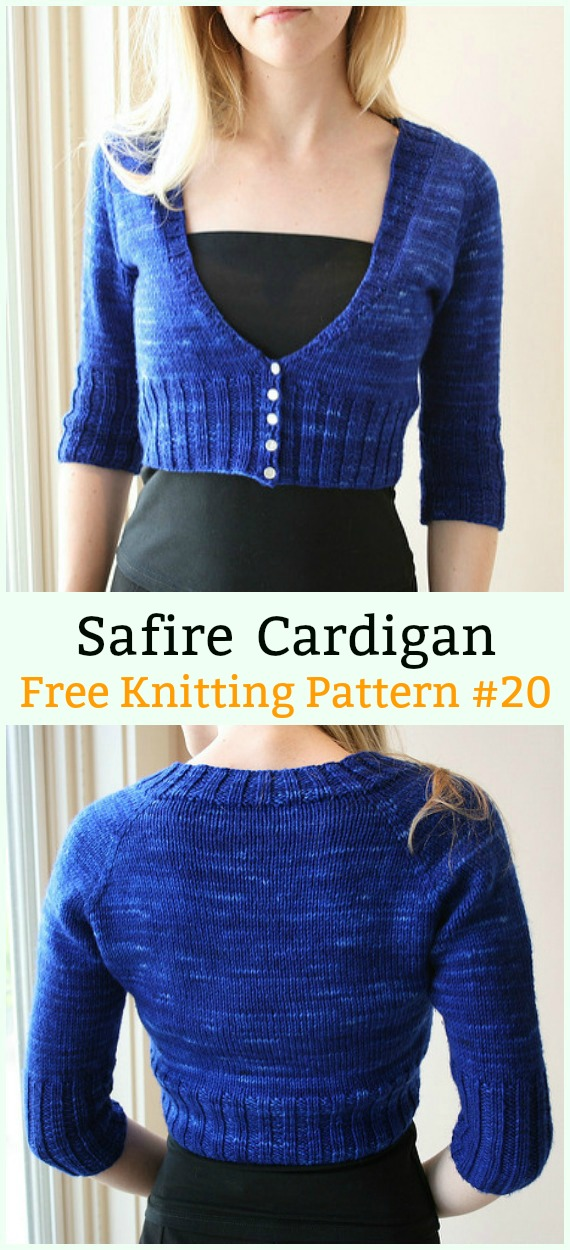 Safire Cardigan Sweater Free Knitting Pattern - Women #Cardigan; Sweater Coat Free #Knitting; Patterns