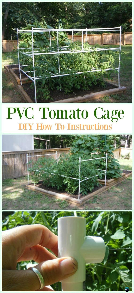 PVC Tomato Cage DIY Instructions - Low Budget DIY PVC Garden Projects