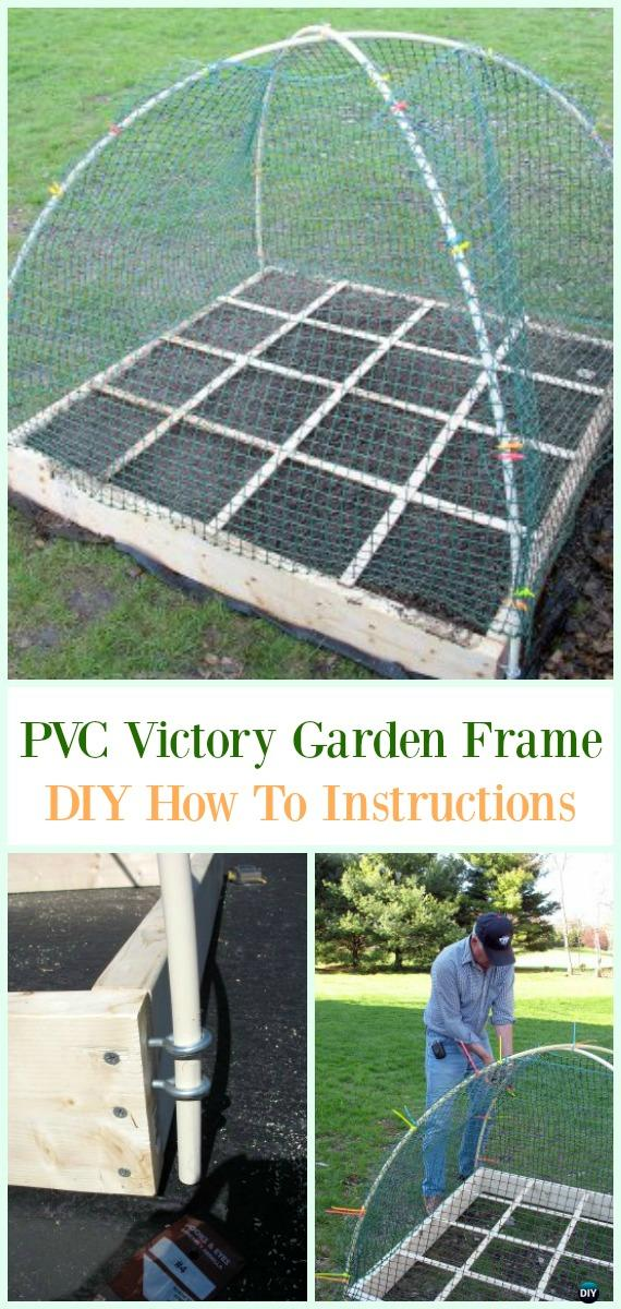 PVC Victory Garden Frame DIY Instructions - Low Budget DIY PVC Garden Projects