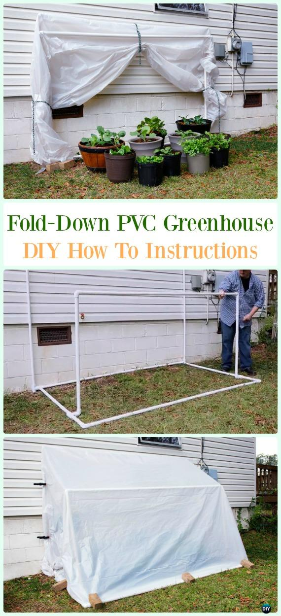 Fold-Down PVC Greenhouse DIY Instructions - Low Budget DIY PVC Garden Projects