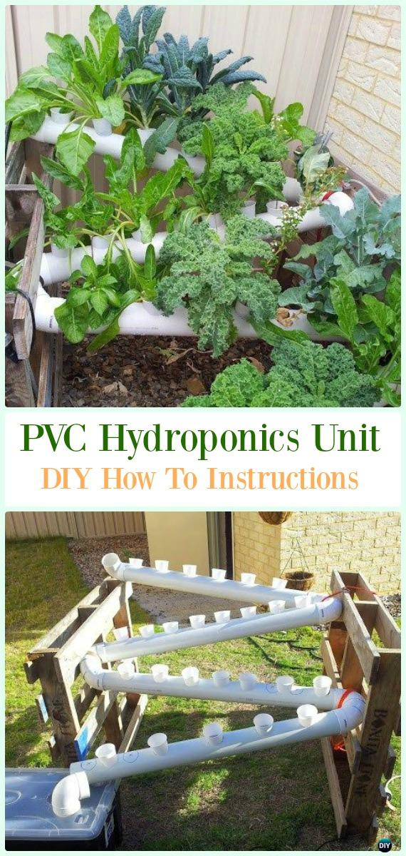 PVC Hydroponics Unit DIY Instructions - Low Budget DIY PVC Garden Projects