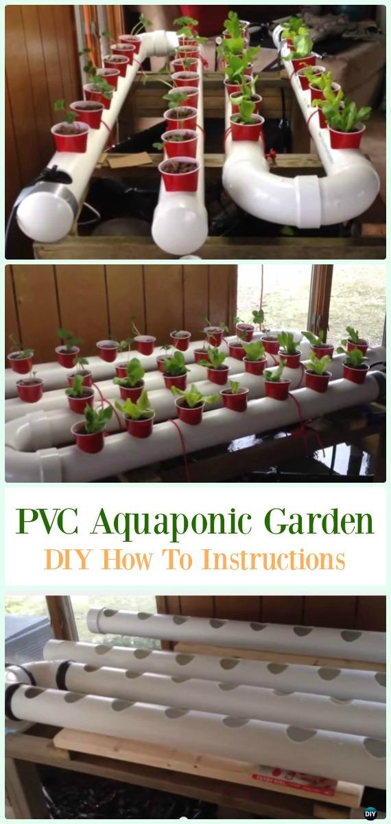 Gravity-Based PVC Aquaponic Garden DIY Instructions - Low Budget DIY PVC Garden Projects