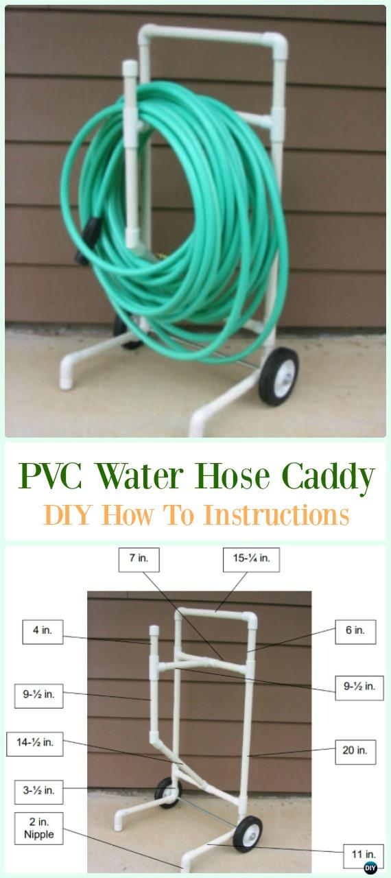 PVC Water Hose Caddy DIY Instructions - Low Budget DIY PVC Garden Projects