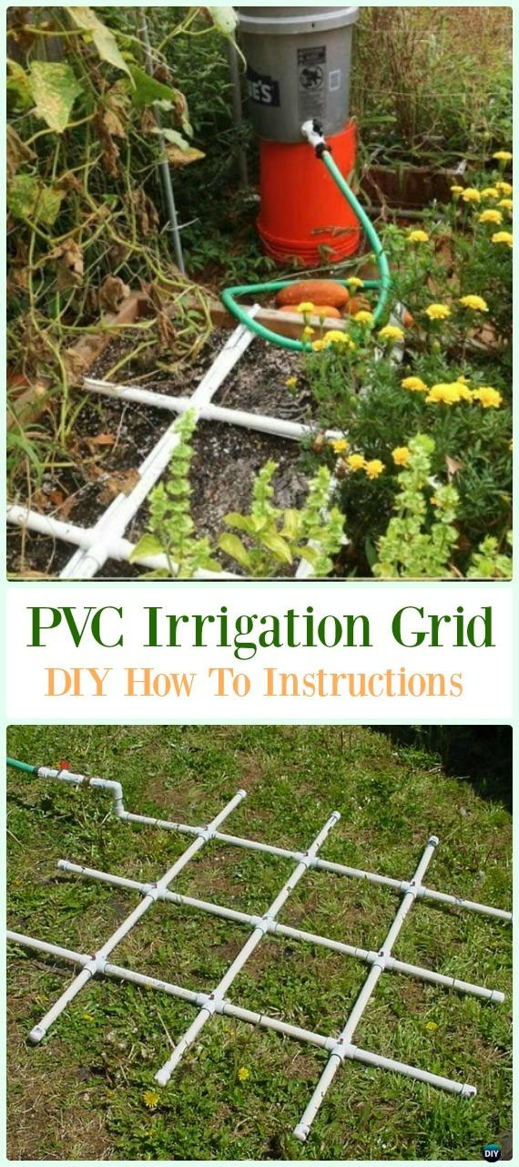 PVC Irrigation Grid DIY Instructions - Low Budget DIY PVC Garden Projects