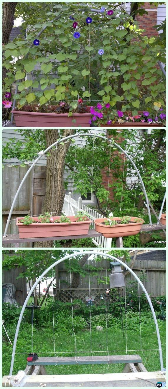 PVC Trellis DIY Instructions   Low Budget DIY PVC Garden Projects