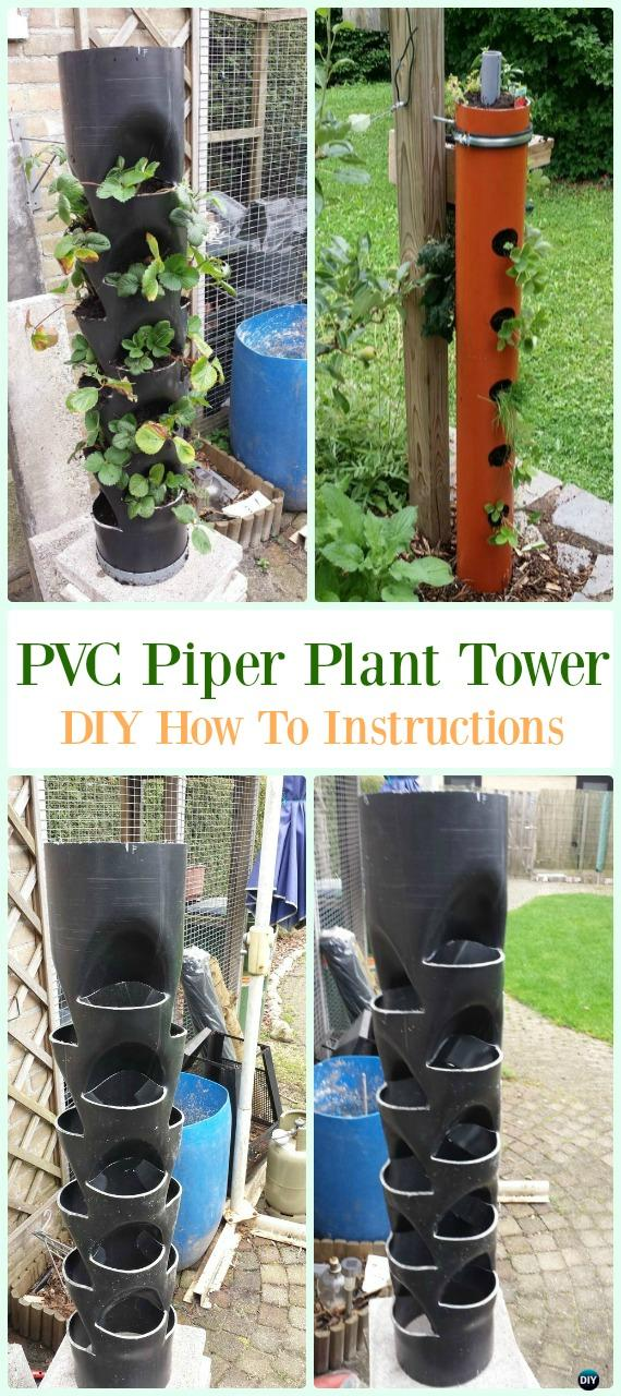 PVC Piper Plant Tower DIY Instructions - Low Budget DIY PVC Garden Projects