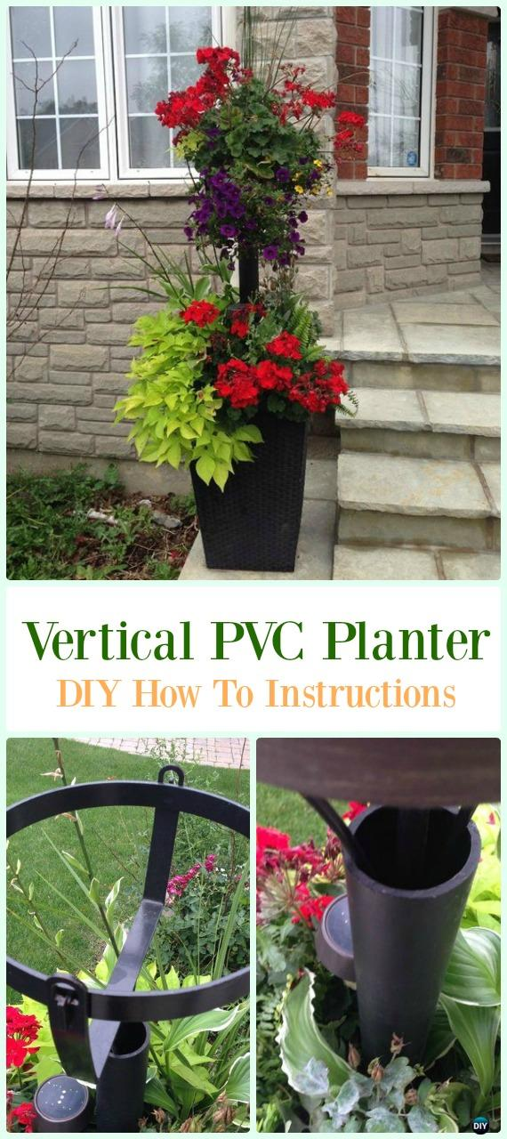 Vertical PVC Planter DIY Instructions - Low Budget DIY PVC Garden Projects