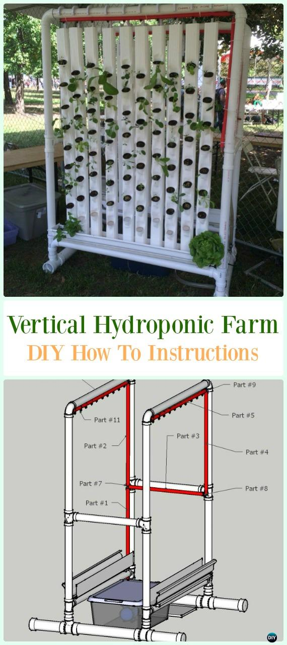PVC Vertical Hydroponic Farm DIY Instructions - Low Budget DIY PVC Garden Projects