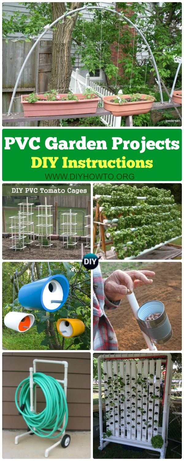 DIY PVC Garden Projects Instructions   PVC Gardening Ideas From Green  House, PVC Trellis,