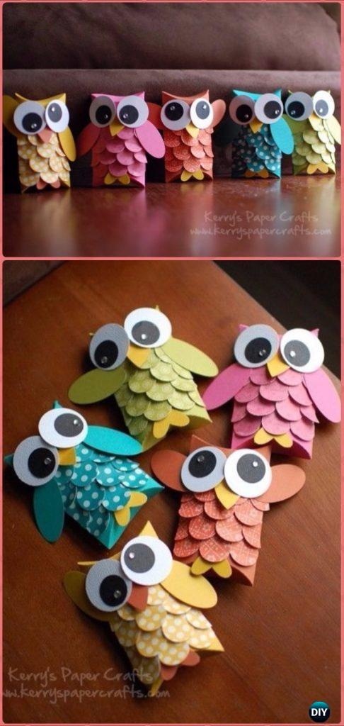 DIY TP Roll Owl Tutorial - Paper Roll Christmas Craft Ideas & Projects
