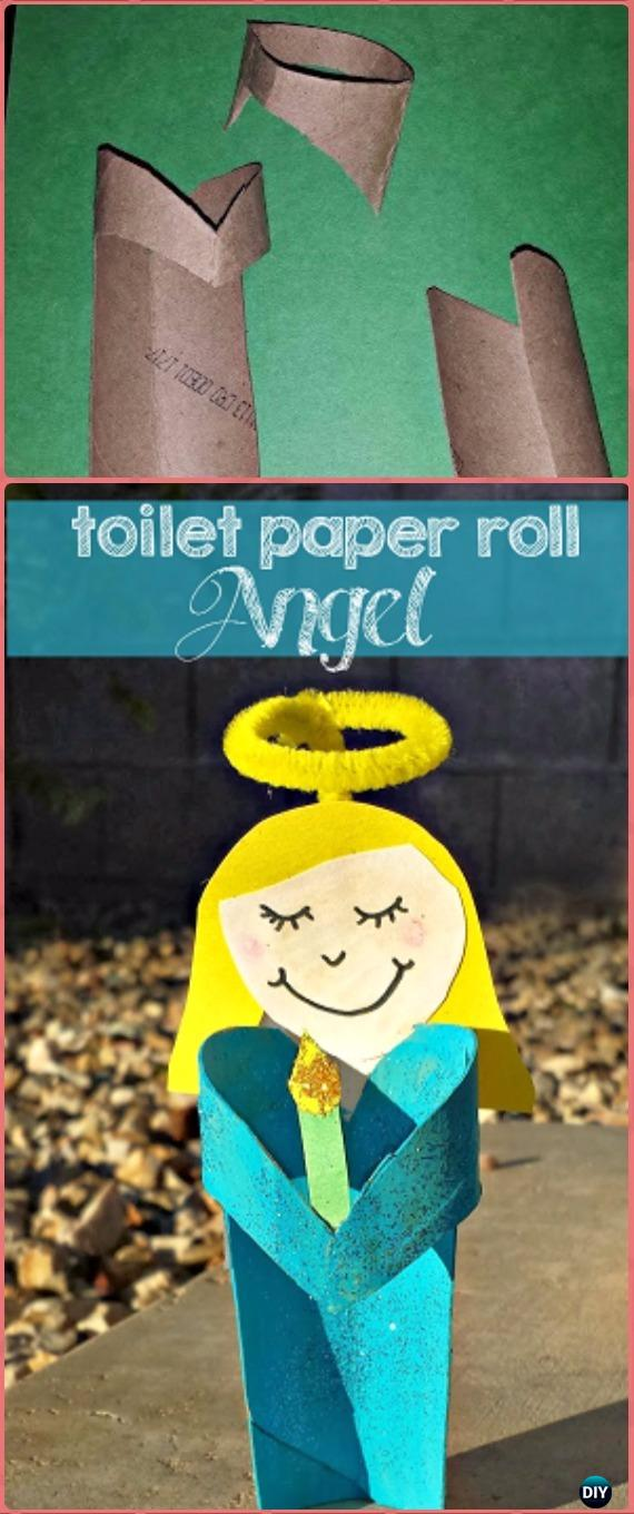 DIY Toilet Paper Roll Angel Tutorial - Paper Roll Christmas Craft Ideas & Projects