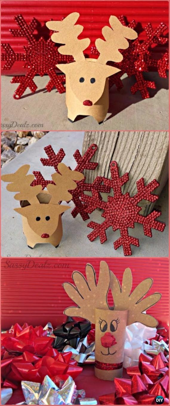 DIY Toilet Paper Roll Reindeer Tutorial