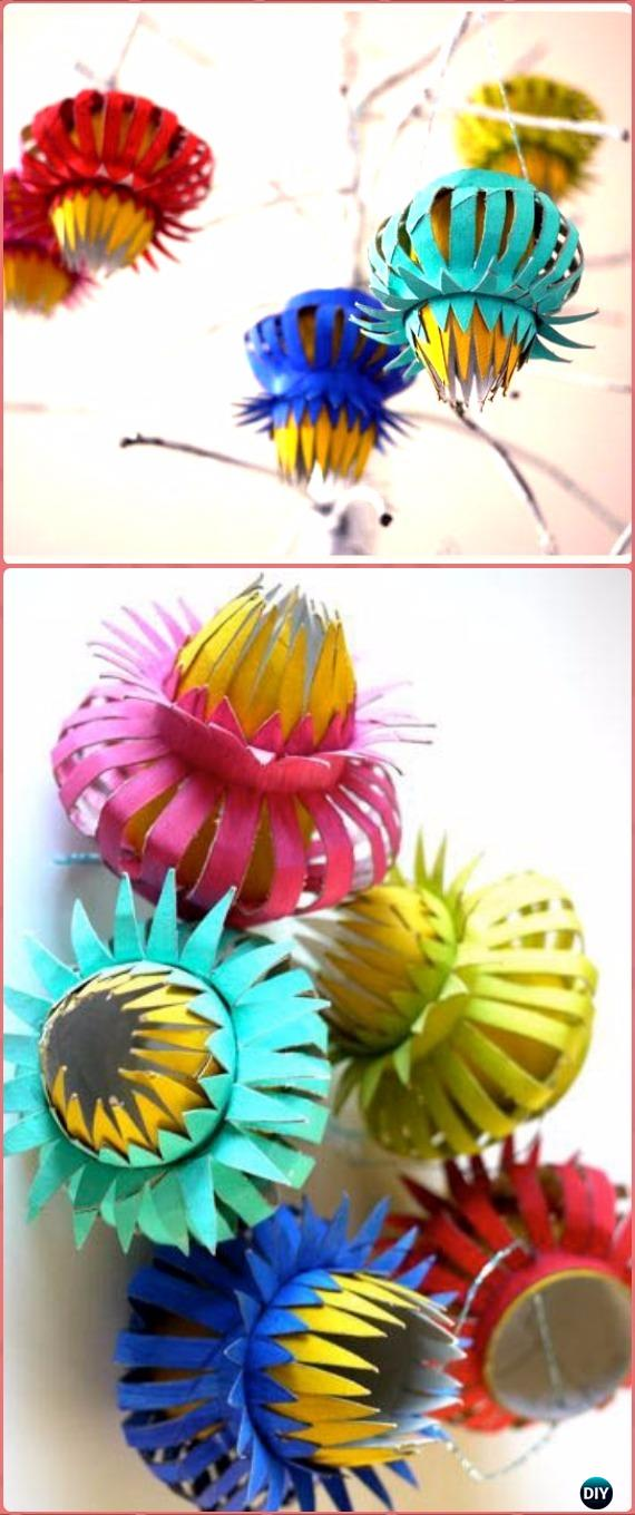 DIY TP Roll Thistle Ornament Tutorial - Paper Roll Christmas Craft Ideas & Projects