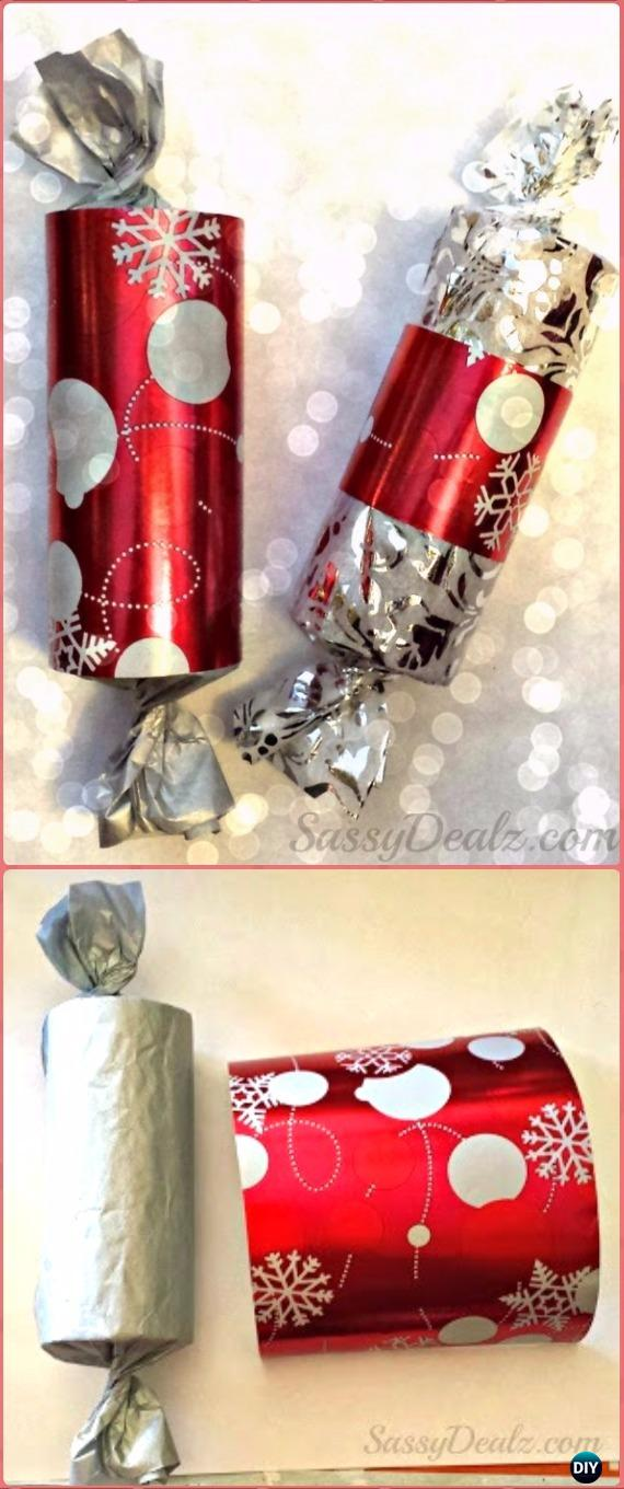 DIY Toilet Paper Roll Christmas Gift Boxes Tutorial - Paper Roll Christmas Craft Ideas & Projects