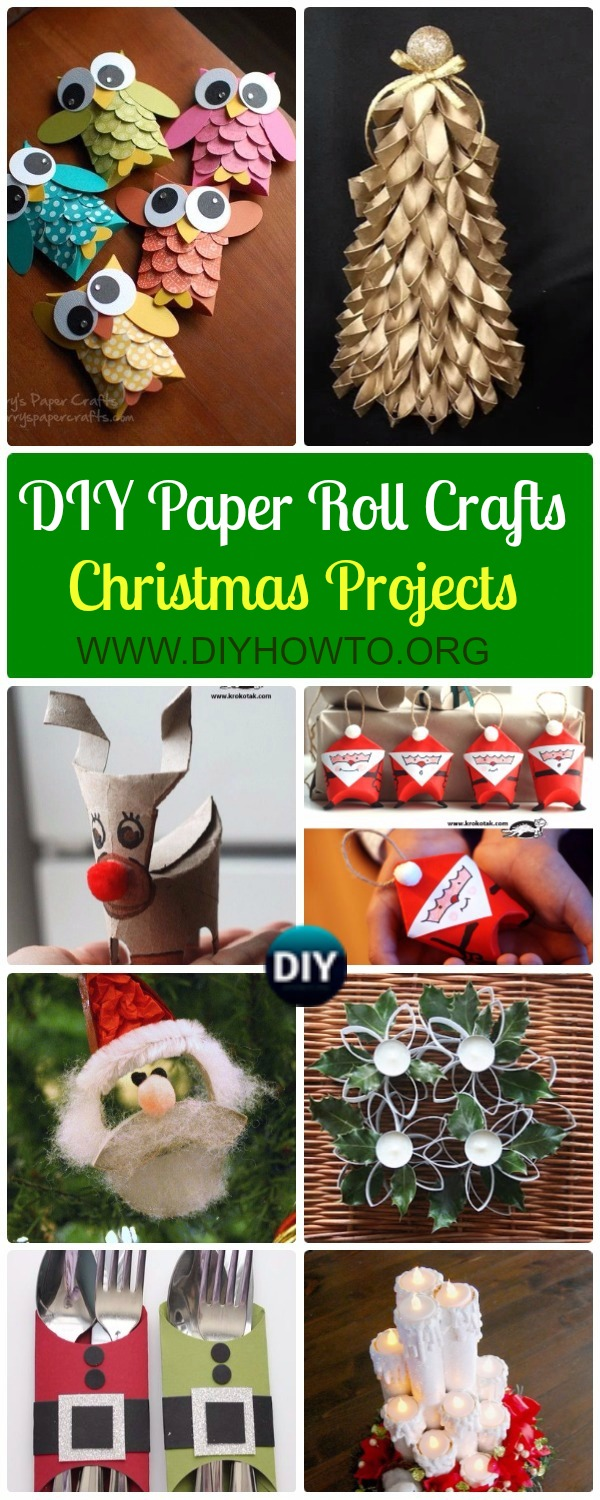 DIY Paper Roll Christmas Craft Ideas & Projects with Instructions, Christmas Ornaments, Christmas decorations, Christmas recycled kids crafts