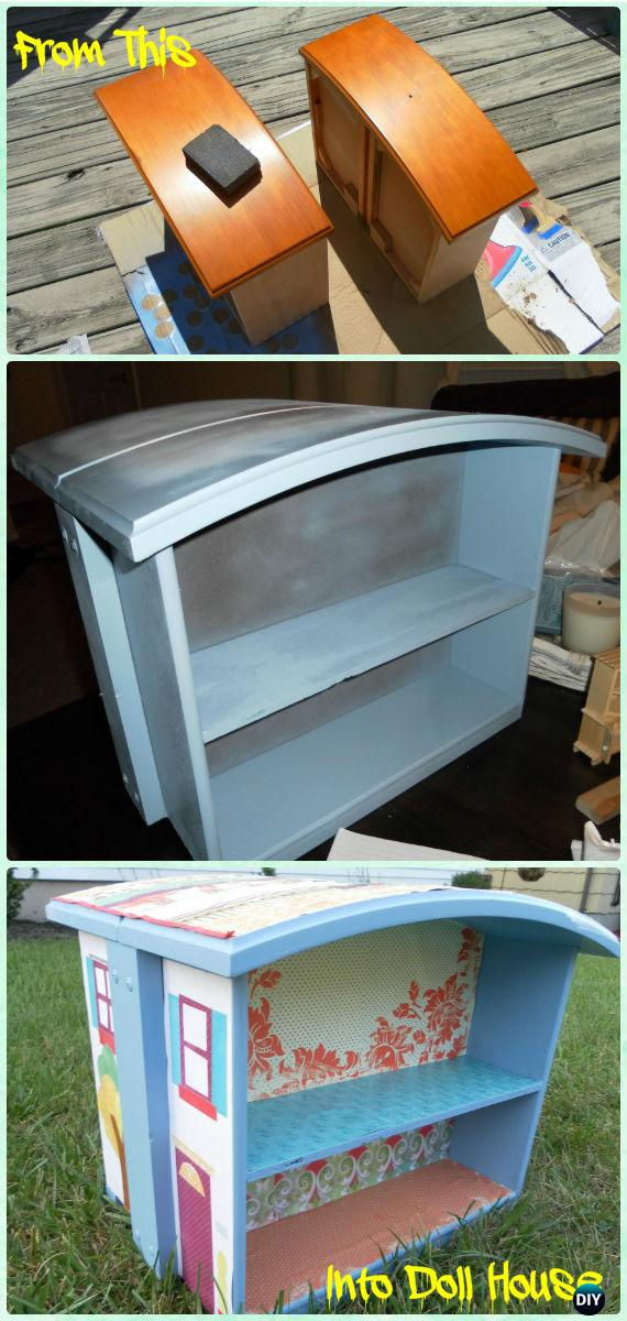 DIY Old Drawer Doll House Instructions - Practical Ways to Recycle Old Drawers for Home