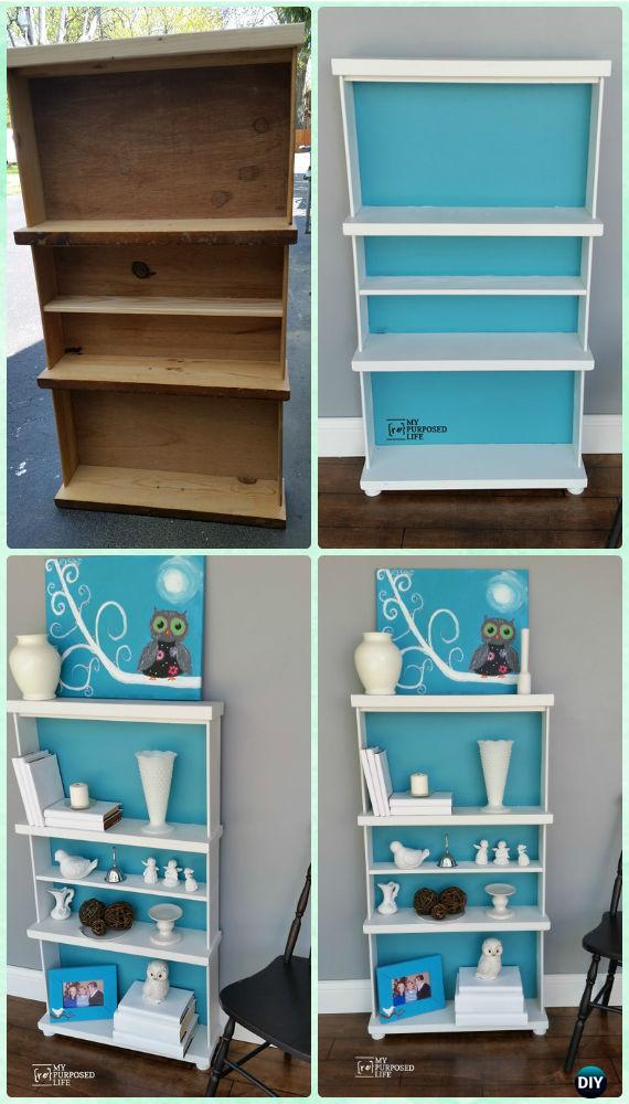 DIY Repurposed Drawers Bookcase Instruction - Instructions - Practical Ways to Recycle Old Drawers for Home
