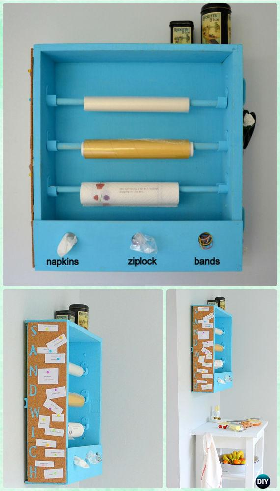 DIY Recycled Drawer Sadwich Station Instruction - Practical Ways to Recycle Old Drawers for Home