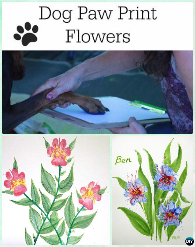 DIY Puppy Paw Print Flower Instruction --Paw Print Craft Ideas Projects