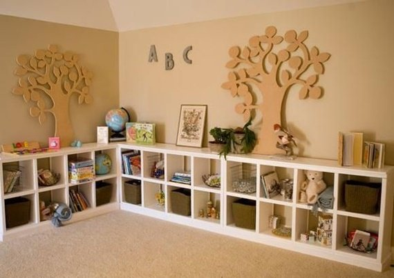 Storage Wall Space Saving Kids Room Furniture Design And Layout