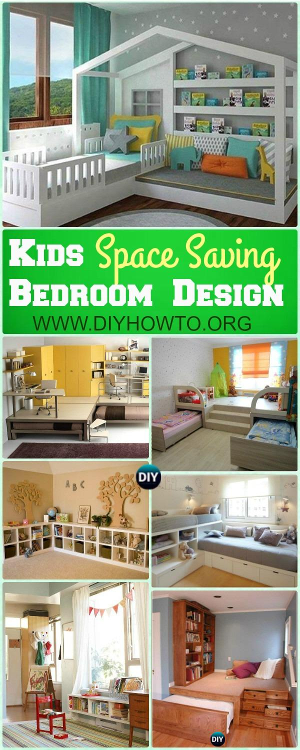 Maximize existing space of kids bedroom with these Space Saving Kids Bedroom Furniture Design Layout