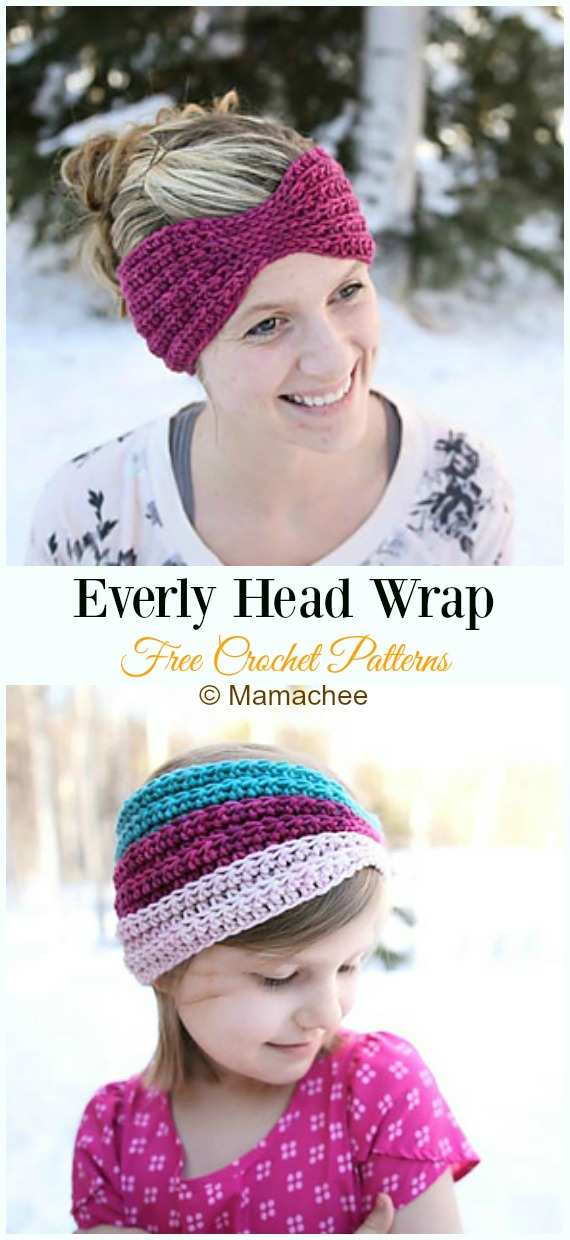 Everly Head Wrap Crochet Free Pattern - Trending Women #EarWarmer; Free #Crochet; Patterns