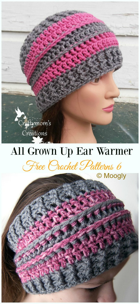 All Grown Up Ear Warmer Crochet Free Pattern Trending Women