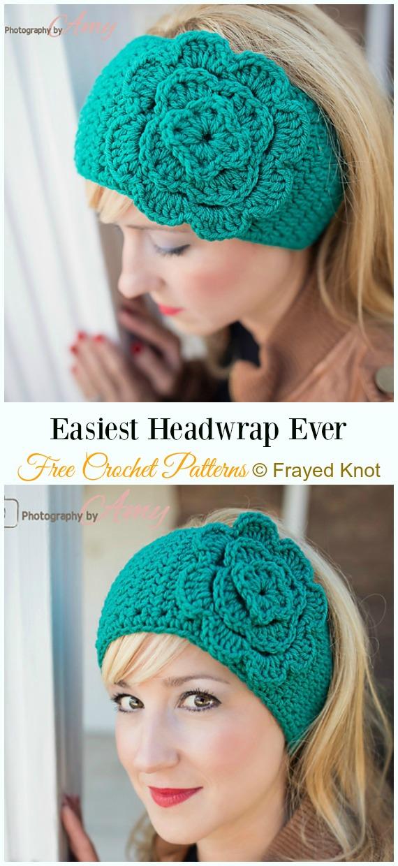Easiest Headwrap EVERCrochet Free Pattern -Trending Women Headband & #EarWarmer; Free #Crochet; Patterns