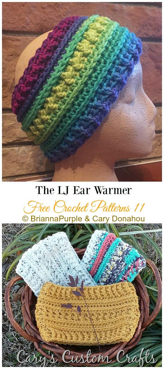 The LJ Ear WarmerCrochet Free Pattern -Trending Women Headband & #EarWarmer; Free #Crochet; Patterns