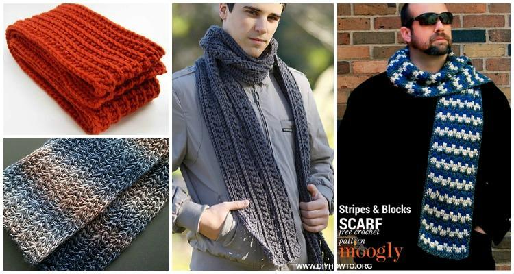 Unisex Men Scarf Free Crochet Patterns