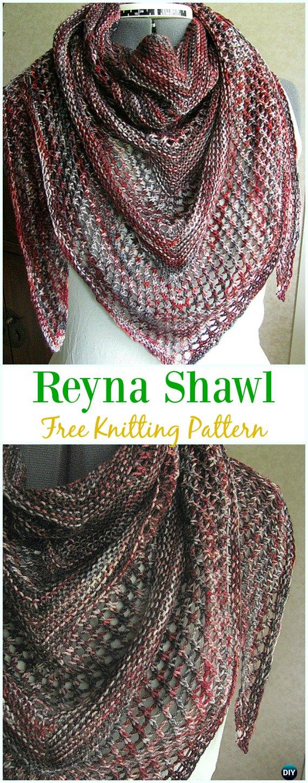Reyna Shawl Free Knitting Pattern - Women #Shawl; Wrap Free #Knitting; Patterns