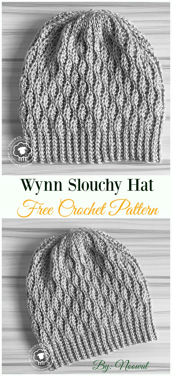 Wynn Slouchy Hat Crochet Free Pattern - Women #Slouchy; Beanie Hat Free #Crochet ;Patterns